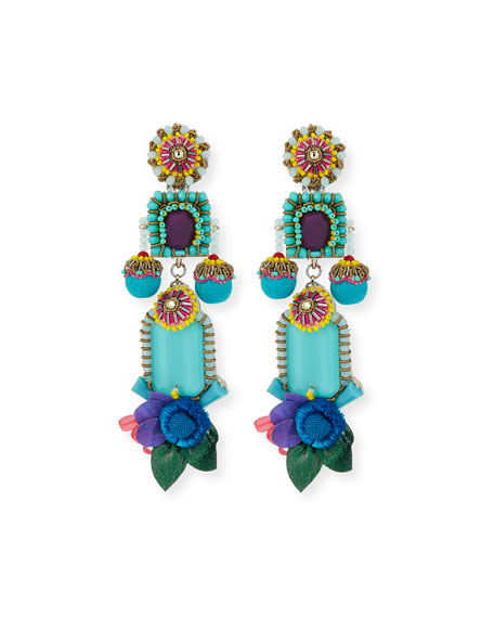 Ranjana Khan Trinity Long Drop Earrings