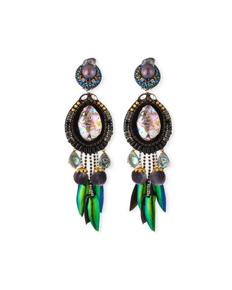 Ranjana Khan Stella Clip-On Drop Earrings