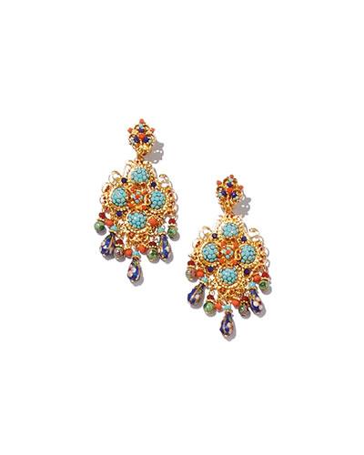 6a0a4ea99 Quick Look. Jose & Maria Barrera · Crystal Beaded Chandelier Earrings