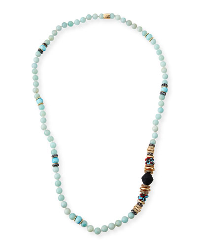 Long Multi-Bead Necklace, 36