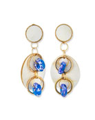 Akola Horn Post & Dangle Earrings, Blue