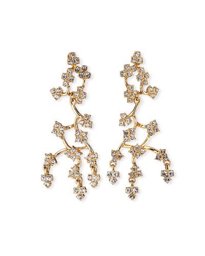 Jackie Crystal Drop Earrings