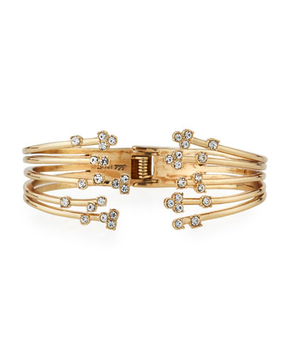 Jackie Hinged Cuff Bracelet w/ Crystals