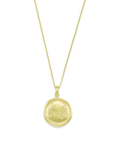Capricorn Coin Pendant Necklace