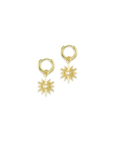 Starburst Charm Huggie Earrings