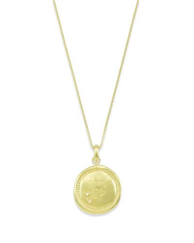 Virgo Coin Pendant Necklace