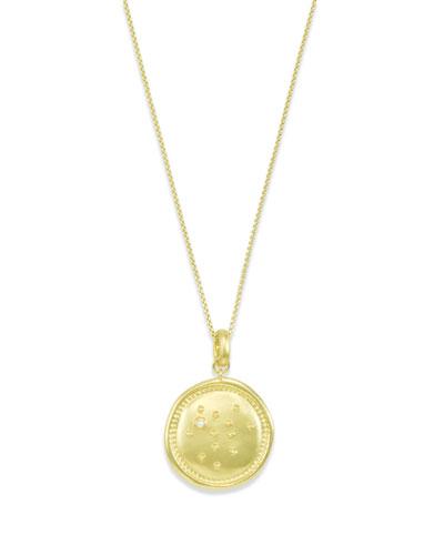 Sagittarius Coin Pendant Necklace
