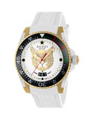 Gucci 40mm Dive Watch w/ Rubber Strap, White