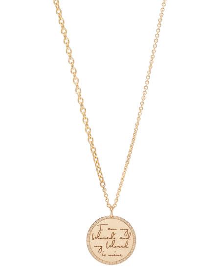 "Zoe Chicco 14k ""I Am My Beloved's"" Pendant Necklace w/ Diamonds"