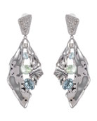 Alexis Bittar Crystal Encrusted Crumpled Multi-Stone Clip
