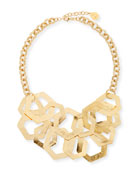 Devon Leigh Double-Strand Hexagon Chain Necklace