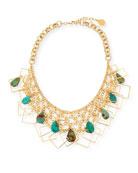 Devon Leigh Multi-Chain & Turquoise Necklace