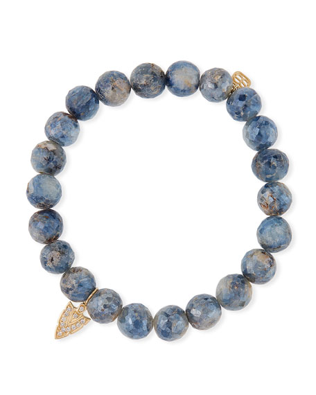 Sydney Evan 14k Diamond Arrowhead & Kyanite Bracelet