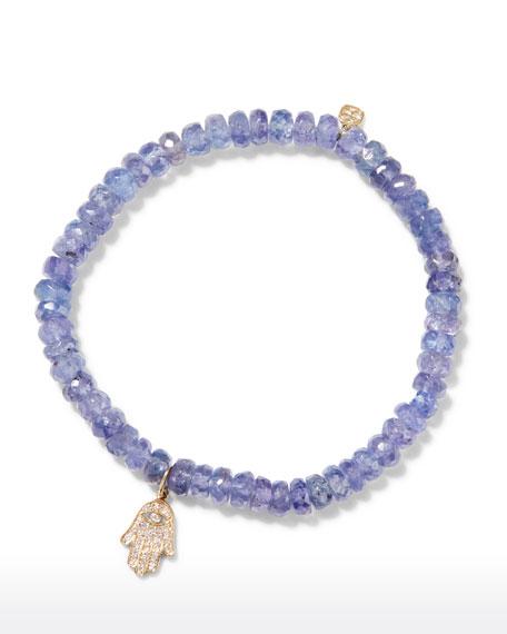 Sydney Evan 14k Diamond Hamsa & Tanzanite Bracelet