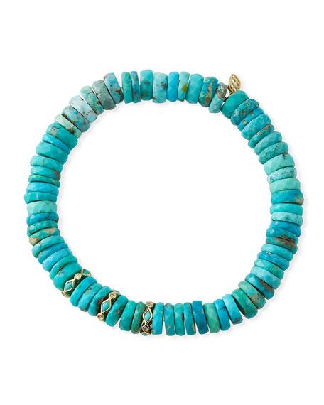 Sydney Evan 14k Arizona Turquoise & Diamond Bracelet
