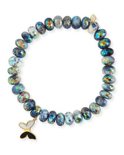 14k Enamel Butterfly & Opal Bracelet