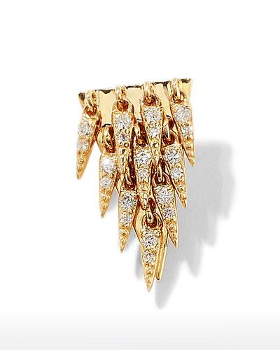 14k Diamond Cascade Fringe Earrings