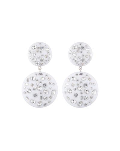 Jessie Drop Earrings w/ Crystals