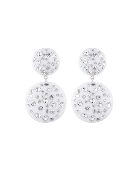 Dannijo Jessie Drop Earrings w/ Crystals