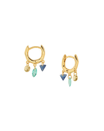 Luca Shimmer Huggie Earrings