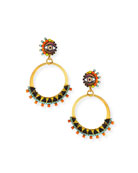 Elizabeth Cole Brandyce Hoop Drop Earrings