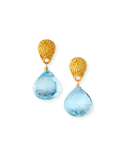 a74fb9e001ece4 Blue Topaz Designer Earrings | Neiman Marcus