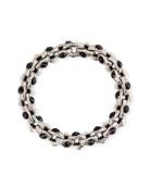 Konstantino Hestia Black Onyx Oval-Link Bracelet, Medium