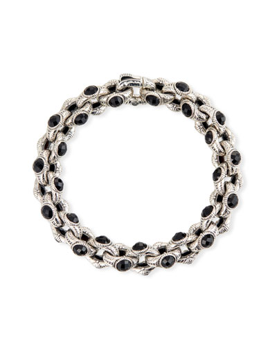 Hestia Black Onyx Oval-Link Bracelet, Medium