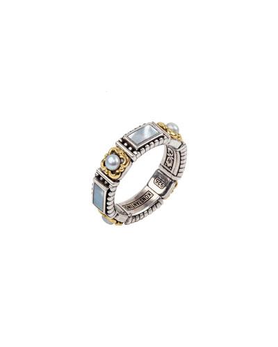Hestia Pearl Band Ring, Size 7