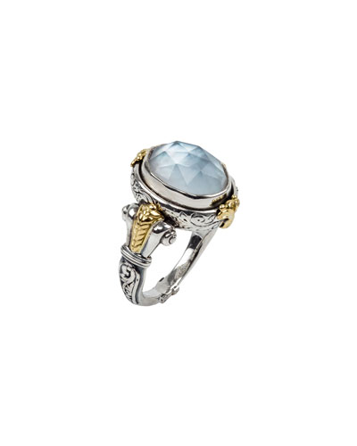 Hestia Mother-of-Pearl Doublet Ring, Size 7