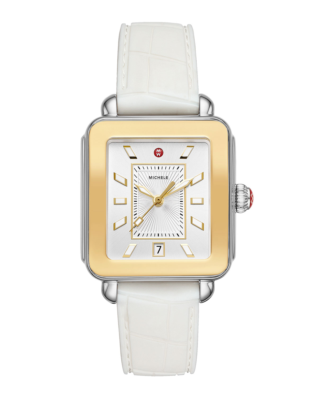 Deco Sport Two-Tone Watch w/ Silicone Strap