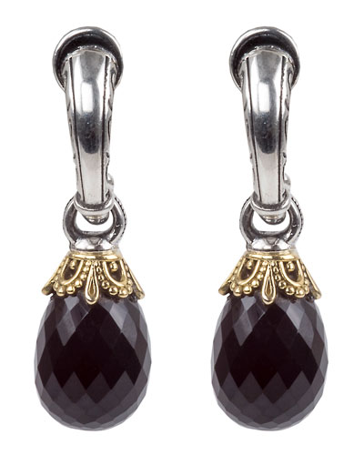 Pythia Onyx Small Drop Earrings