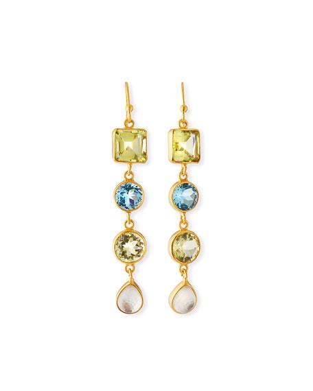 Dina Mackney Multi-Stone 4-Drop Earrings