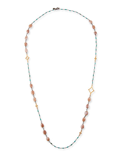 Cuento Long Crivelli & Stone Necklace, 40