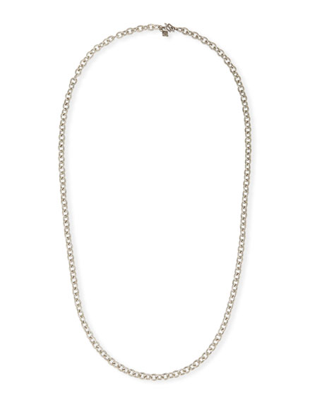 "Armenta New World Sterling Silver Chain Necklace, 30""L"