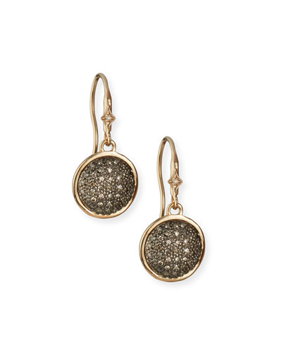 New World Diamond Pave Disc-Drop Earrings