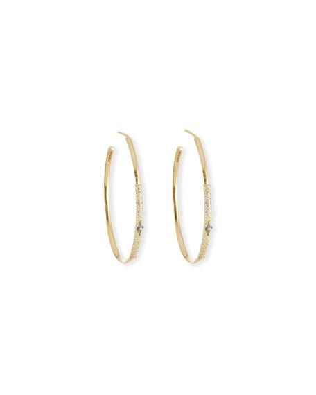 Armenta Old World Diamond Hoop Earrings w/ 18k Gold