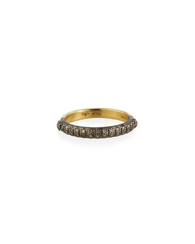 Old World Halfway Diamond Stack Ring, Size 6.5