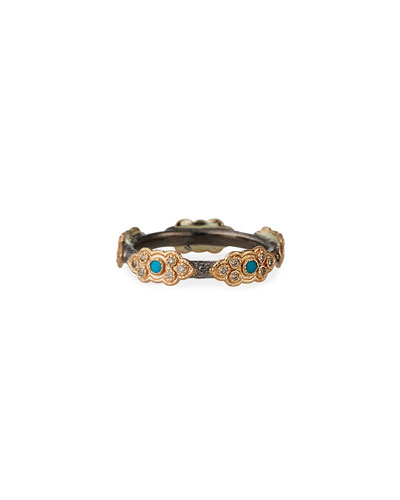 Cuento Sculpted Diamond Scroll Ring, Size 6.5