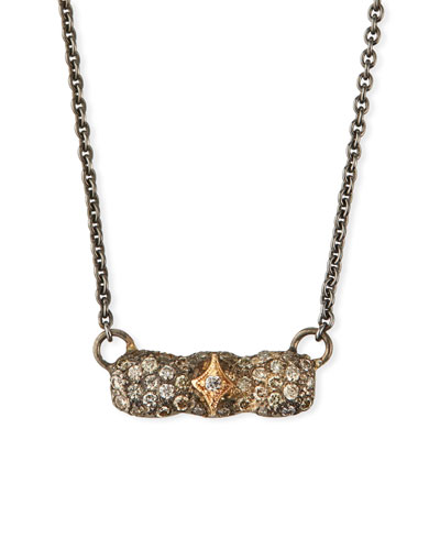 New World Short Diamond Bar Necklace