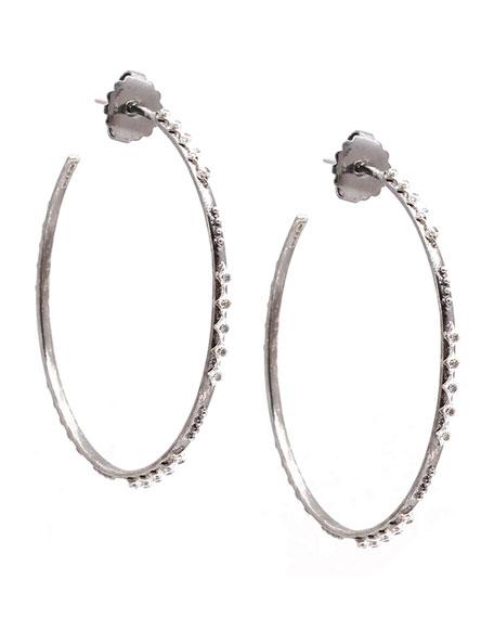 Armenta New World Crivelli Diamond Hoop Earrings