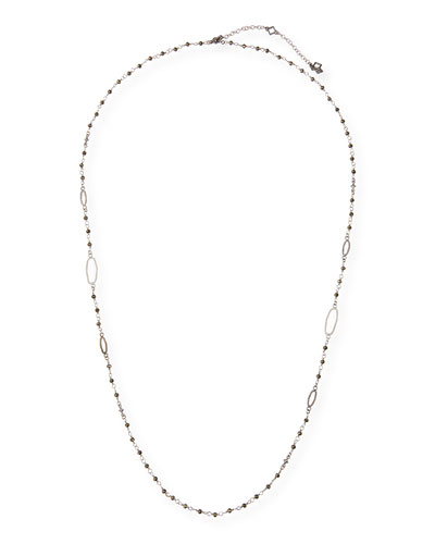 New World Long Pyrite Necklace, 30