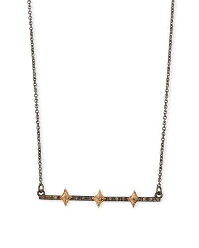 Cuento Crivelli Bar Necklace w/ Diamonds