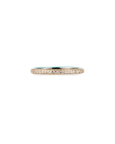 Cuento Halfway Diamond Pave Ring, Size 6.5
