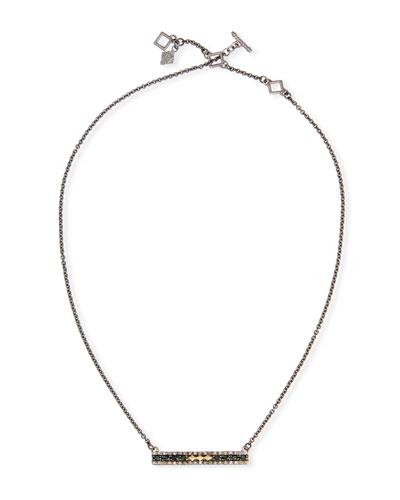 Old World Crivelli Bar-Pendant Necklace