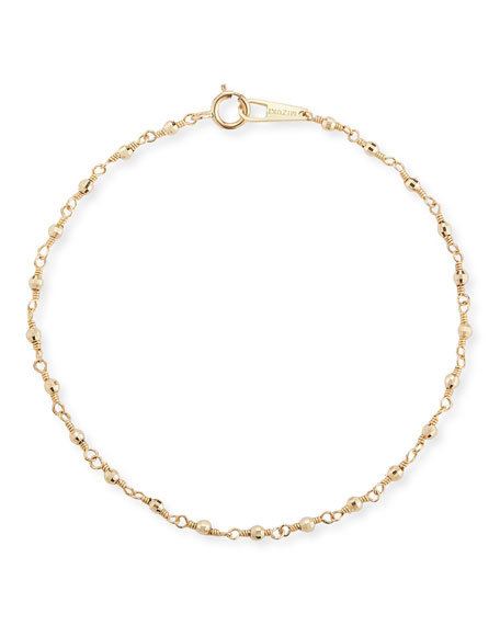 Mizuki 14k Gold Wrapped Bead Bracelet