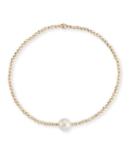 Mizuki 14k Gold Single-Pearl Bracelet