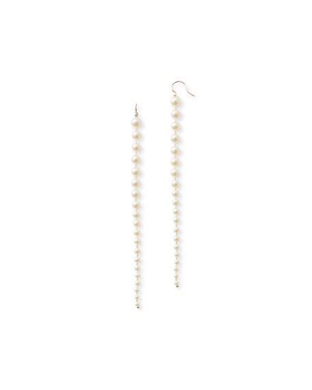 Mizuki 14k Gold Graduated Akoya Pearl Drop Earrings