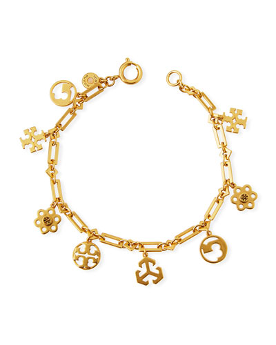 95cce0f3aec532 Quick Look. Tory Burch · Logo Charm Bracelet. Available in Gold