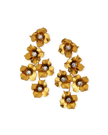 Jennifer Behr Myra Crystal Flower Earrings